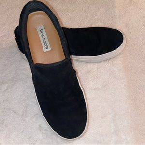 Steve Madden Gills Leather Suede Slip On Loafers